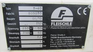 卓上型 電動シルクスクリーン印刷機T-40  FLEISCHLE製 「小ロットのスクリーン印刷に最適な卓上タイプ☆」