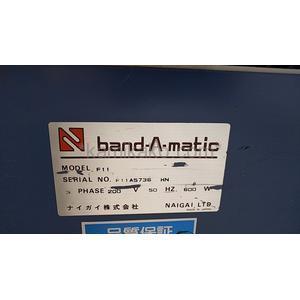 """自動結束機 Band-A-Matic(バンダマチックシリーズ)F11 """"引締調整9段階"""" ナイガイ株式会社(NAIGAI)製 「縦長アーチで、積み重ね商品の結束などに便利★」"""