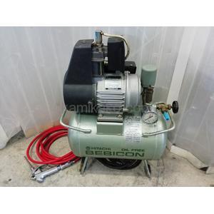 """小型空気圧縮機(コンプレッサー) スーパーオイルフリーベビコン 0.2OP-5S """"タンク容量12L"""" 日立産機システム(HITACH)製"""