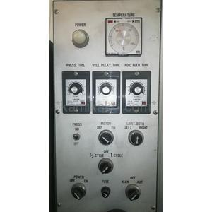 """箔押し機(ホットスタンピングマシン)M-3000 """"プレスサイズ160×240mm,フットスイッチ有"""" 尼崎機械(AMACK)製 「最大300度までの温度調節で素材に合わせた加工が可能★」"""