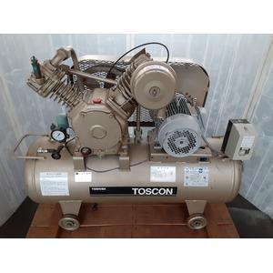 """エアーコンプレッサー TOSCON(トスコン) SP105-37T8 """"圧力開閉器式,タンクマウント仕様"""" 東芝(TOSHIBA)製"""