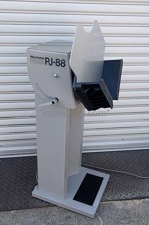 """ジョガー(紙揃え機,突揃え機)PJ-88 """"A3対応,縦型タイプ"""" ホリゾン(Horizon)製 「縦型スリムなフォルムで、すぐ横に置いて作業できるシンプルなジョガー☆」"""