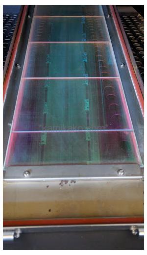"""大型UV乾燥機(紫外線乾燥機,UV乾燥コンベア) """"コンベア幅850mm"""" クラナミ製 「UV印刷のラインに組み込める幅広のコンベアタイプ★」"""